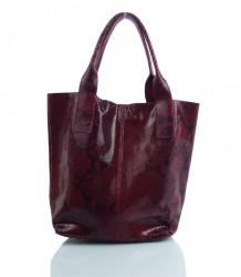 Talianska kožená kabelka - MK-498701 #11