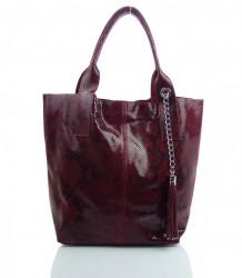 Talianska kožená kabelka - MK-498701 #12