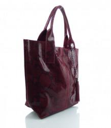 Talianska kožená kabelka - MK-498701 #8