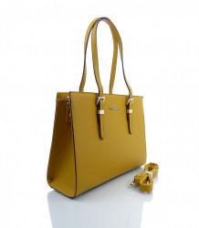 Značková kabelka cez rameno FLORA&CO - MK-499826-žltá