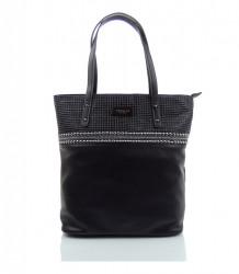 Značková kabelka cez rameno MONNARI ekokoža - MK-497460-čierna