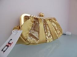 Značková talianska spoločenská kabelka J&C zlatá JC-C22