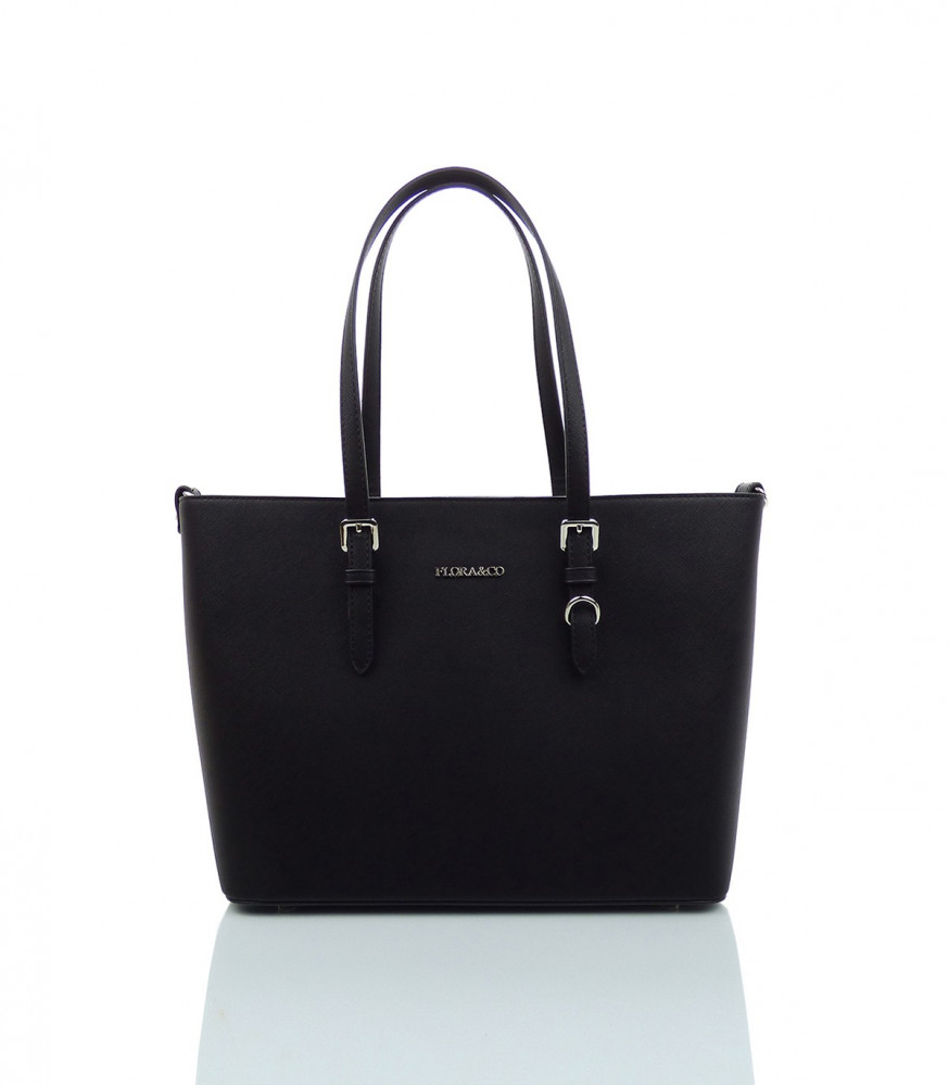 Elegantná kabelka FLORA&CO - MK-495953- čierna