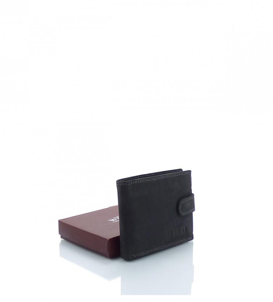 Pánska peňaženka WILD ekokoža - MK-494445-čierna