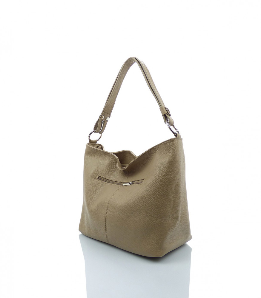 06dc64b12 Talianska kabelka cez rameno koža - MK-026222- béžová - Talianske ...