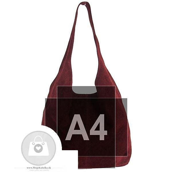 Talianska kabelka kožená Made in Italy - MK-498700-fialová