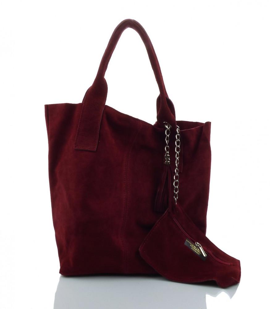 6a92c59929 Talianska kabelka Made in Italy brúsená koža - MK-490992-červená ...