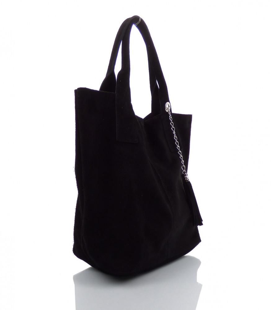 ad986a4ea Talianska kabelka Made in Italy brúsená koža - MK-490992-čierna ...