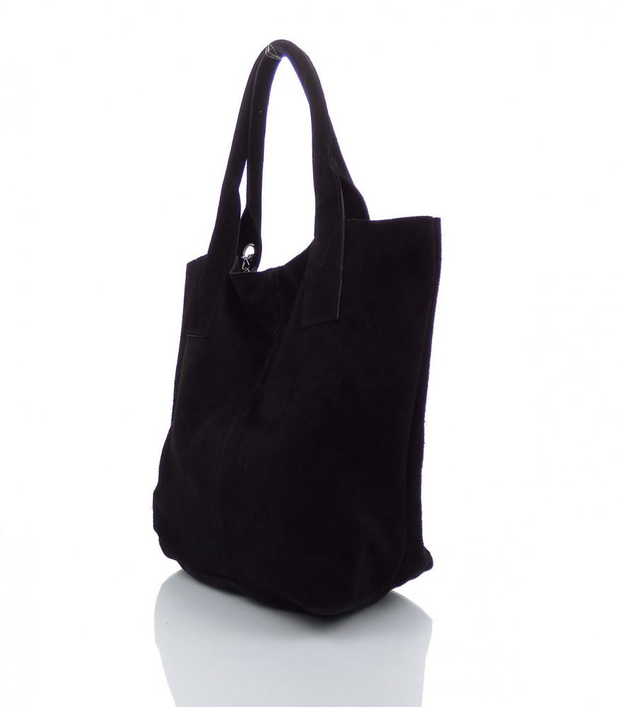 ff39d63ec2 Talianska kabelka Made in Italy brúsená koža - MK-490992-čierna ...