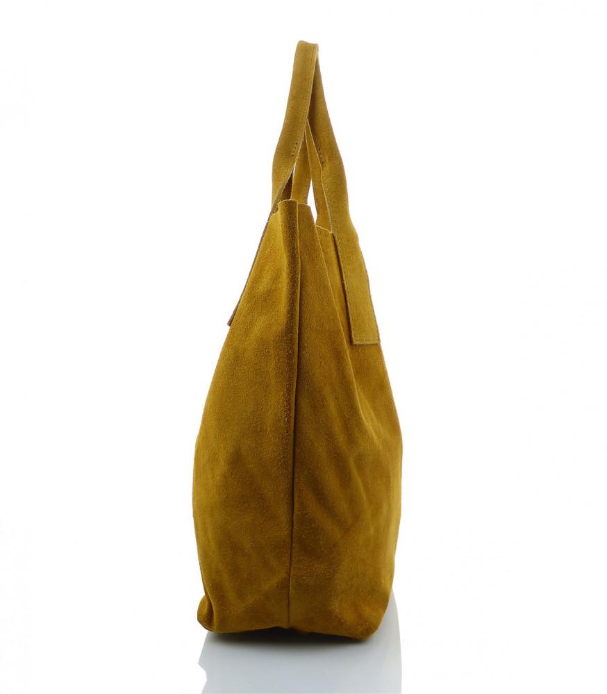 fad02eb9b7 Talianska kabelka Made in Italy brúsená koža - MK-490992-žltohnedá ...